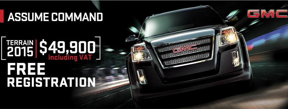 2015 GMC Terrain SLT 1 3.6 L., 301 hp, 6 speed, Automatic, Four-wheel Drive