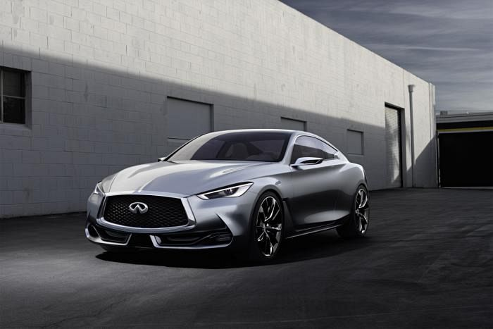 Infiniti Q60 production version due next year with two Mercedes engines!