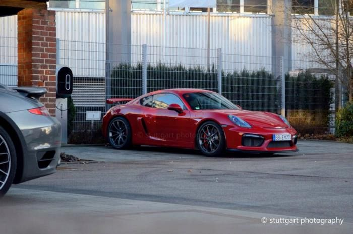 Porsche Cayman GT4 spotted in the metal for the first time