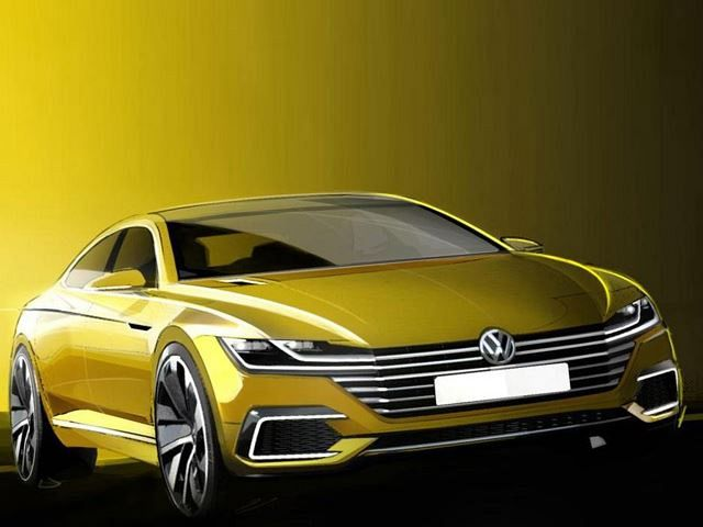 Volkswagen Sport Coupe Concept GTE Teased; Previews New Passat CC