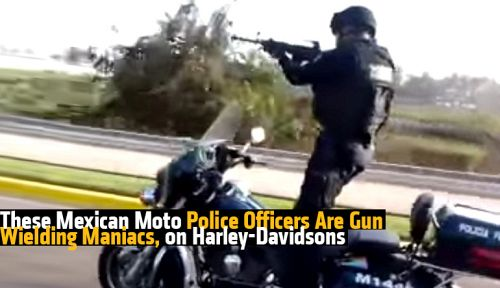 Mexican moto police officers on harley davidsons bike How do you say dab in spanish