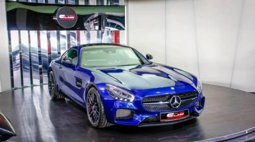 Dubai dealership shows off blue Mercedes-AMG GT S