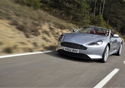 2015 Aston Martin DB9 Volante  V12 Carbon Black  6.0 L., 510 hp, 6 speed, Touchtronic, RWD