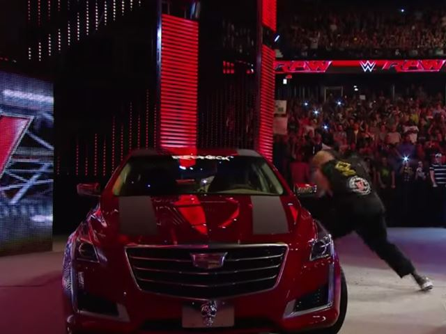 A Cadillac Cts Got Smashed By Brock Lesnar In The Silliest